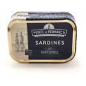 Sardines entières au naturel 0.135gr