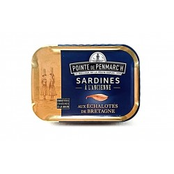 Sardines aux échalotes de Bretagne et à l'huile d'olive  0.115g